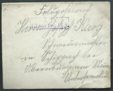 WWI Military Germany S.B. J.B. Bay Res Feldpostbrief Field Post Postal Cover