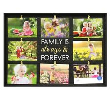 Mainstays Plank Black Collage Photo Picture Frame Wall Art Home Decor