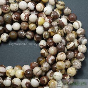 """Natural Brown Zebra Jasper Gemstone Round Beads 4mm 6mm 8mm 10mm 12mm 14mm 16"""""""