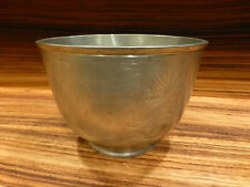"""Old marked japanese pewter bowl- commemorative, militaria 5 1/4"""" [Y8-W6-A9]"""