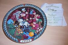 "Bing & Grondahl ""Santa's Workshop"" 1989 First Ed Collectible Plate Box & Coa"