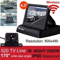 "Wireless Car Rear View Kit 4.3"" Fold LCD Monitor + Night Vision Reversing Camera"