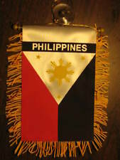 "PHILIPPINES FLAG MINI BANNER 4""x6"" CAR WINDOW MIRROR"