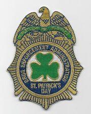 DEA St Patricks Day patch Shamrock Police Sheriff Narcotics