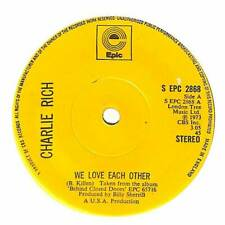 """Charlie Rich - We Love Each Other - 7"""" Vinyl Record Single"""