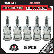 X-BULL 5Pcs Socket Hose Barb Nitto Style Air Fitting Coupler 30SH