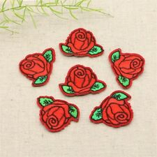 5pcs Cute Colorful Rose Applique Flowers Patch Embroidered Sew Iron on Clothes B