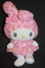 "Sanrio Hello Kitty My Melody Knit Dress 11"" Plush Hat Pink Stuffed Lovey Toy"