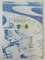 2005 UEFA CUP FINAL PROGRAMME CSKA MOSCOW v SPORTING LISBON