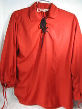 LATE RENAISSANCE SHIRT MUSEUM REPLICAS MEDIEVAL HALLOWEEN COSTUME LARGE RED