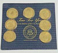 1997 READERS DIGEST A COIN HISTORY OF THE UNITED STATES PRESIDENTS BRASS COINS