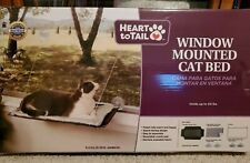 Heart To Tail Window Mounted Cat Bed Black with white fleece - Open Box