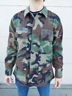 US Air Force Woodland Camo Jacket Med/Reg W/Patches  Military