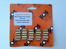 10mm yorkshire/Wednesbury soft tube en cuivre liner/insert, laiton-pack de 25