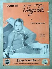 Doreen Tiny Tots Knit & Crochet Pattern Vol 95 SC 1947 Layette Sets More