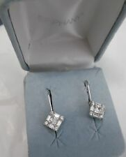 STERLING SILVER BEAUTIFUL CZ EARRINGS IN ORIG. BOX UNUSED  MFG. DO