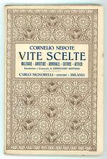 NEPOTE CORNELIO VITE SCELTE ANNIBALE CATONE MIZIADE ARISTIDE SIGNORELLI 1927