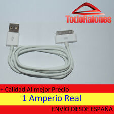 Cargador USB cable datos iphone 4S 4 3GS 3G IPAD 3 2 1 IPOD NANO TOUCH españa