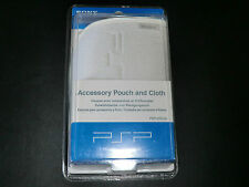 OFFICIAL SONY PSP UMD POUCH CASE AND CLOTH   IN WHITE  NEW AND SEALED