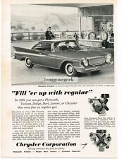 1961 Chrysler Newport Automobile Car Vtg Print Ad