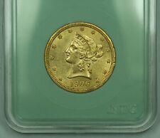 1906-D $10 Gold Liberty Head Eagle High Grade AU/BU In Basement Holder Genuine