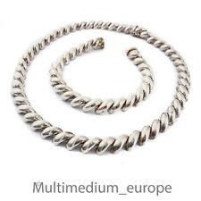Art Deco Silber Collier Halskette Armband 50er 50s silver necklace bracelet set