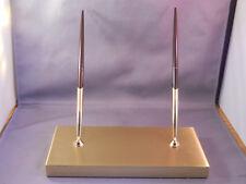 Sheaffer Double Gold Base  Ball Pen Desk Set--new pens- sockets-refills