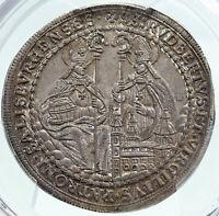 1699-1700 AUSTRIA Salzburg SAINT RUPERT VIRGIL Silver 1/2 Taler Coin PCGS i87244
