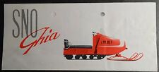 Rare Vintage Sno Ghia Snowmobile Sales Brochure (912)