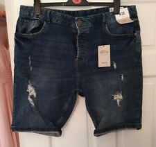 Mens Denim Distressed Shorts Size 38  NWT