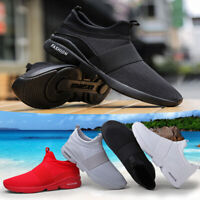 Mens Teens Athletic Sneakers Mesh Trainers Slip On Comfy Running Gym Shoes Size