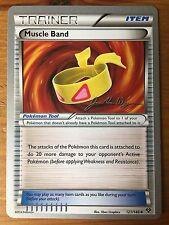 Pokemon TCG : 4 X MUSCLE BAND 121/146 World Championship PROMO Uncommon