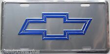 Chevy license plate bow tie chevrolet tag gm silverado sign logo emblem embosed