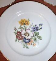 Hutschenreuther Bavaria Western Germany Set of 5 Gold Trim Salad Plates Floral
