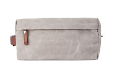 Men's Dopp Bag Leather Handle Waterproof Water-Resistant, Waxed Canvas