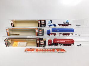 CG575-0, 5 #3x Herpa H0 / 1:87 Lorry / Sz Volvo: 801211+801276+807232, VG Box