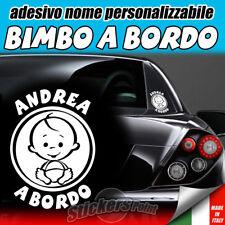 ADESIVO BIMBO A BORDO - nome personalizzabile a scelta - auto infanzia premaman