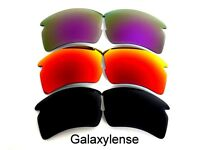 Galaxy Replacement Lenses For Oakley Flak 2.0 XL Black&Red&Purple 3 Pairs