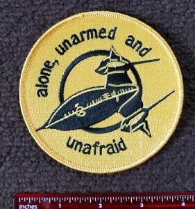 CIA SR 71 Spy Plane Skunk Works ALONE UNARMED & UNAFRAID Military Patch