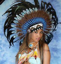 Federhaube Indianer Kopfschmuck  War bonnet  PREMIUM Little Big Horn  2019