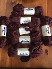 Bear Brand Nylon 'n Wool Bulky-Knit Brown Virgin Washable 7 Skein Lot  2oz. 240