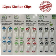 12Pc Kitchen Clips Chip Snack Food Storage Sealing Bag MultiPurpose Craft Clamps
