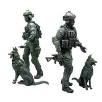 1 X 1:35 Modern American Special Forces and Military Model Resin Dogs Soldi D5O6