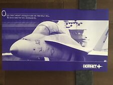 COLOR Glossy FA-18 Hornet Industry Team Aircraft Poster-circa 1990s