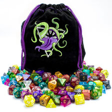 Bag of Devouring: 140 Polyhedral Dice in 20 Complete Sets, Wiz Dice