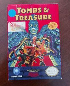 Tombs & and Treasure (Nintendo NES 1991) complete in box CIB !!