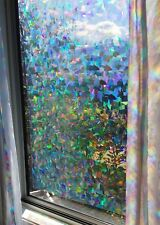 Decorative Window Film Holographic Prismatic Etched Glass Effect - Fill Your