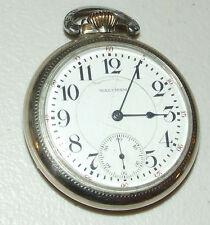 Antique Working 1915 WALTHAM Vanguard 14K G.F. 23J Railroad RR Pocket Watch 16s
