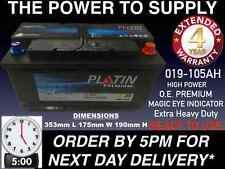 MARINE  BATTERY 105AH 920 AMPS CCA 12V HEAVY DUTY MAINTENANCE FREE 24HDEL
