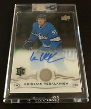 18/19 CLEAR CUT ROOKIE BASE AUTO KRISTIAN VESALAINEN WINNIPEG JETS